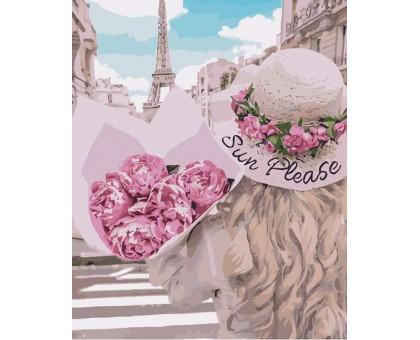 Раскраска по номерам Влюбленная в Париж