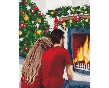 Картина по номерам Рождественская романтика