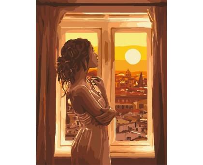 Картина по номерам Золотой рассвет