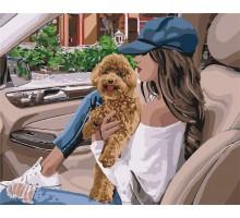 Картина по номерам В поездку с любимцем