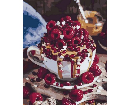 Картина по номерам Малиновый десерт