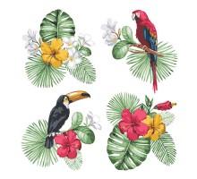 Картина по номерам Квартет Тропики