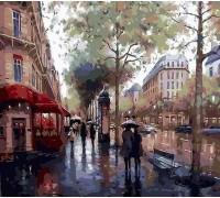 Раскраска по номерам Дождливый день