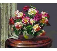 Раскраска по номерам Чайные розы
