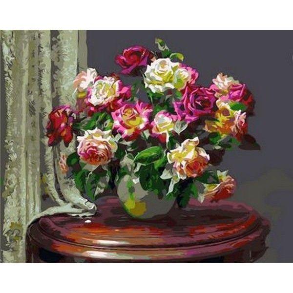 Картина по номерам Чайные розы