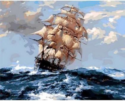Картина_Рисование по номерам На всех парусах