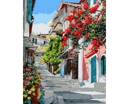 Картина по номерам Цветочная улица