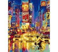 Раскраска по номерам Огни большого города