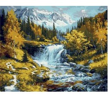 Картина по номерам Горная речка