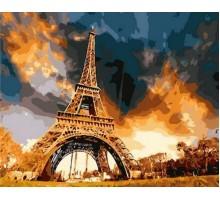 Картина по номерам Закат над Парижем