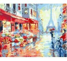 Картина по номерам Весенний дождь в Париже