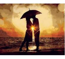 Картина по номерам Поцелуй на закате
