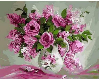 Картина по номерам Розовая нежность
