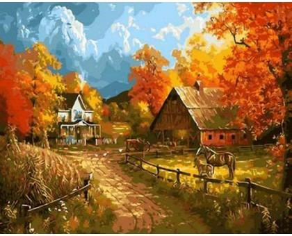 Картина по номерам Сельский пейзаж