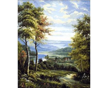 Картина по номерам Окраина деревни