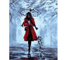 Картина по номерам Девушка с далматинцем