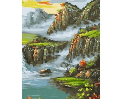 Картина по номерам Страна водопадов