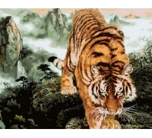 Картина по номерам Крадущийся тигр