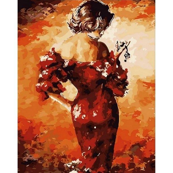 Картина по номерам Леди в красном