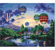 Картина по номерам Воздушные шары в сумерках