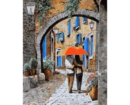 Картина по номерам Апельсиновый зонтик