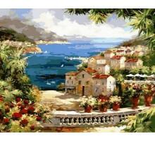 Картина по номерам Веранда с видом на океан
