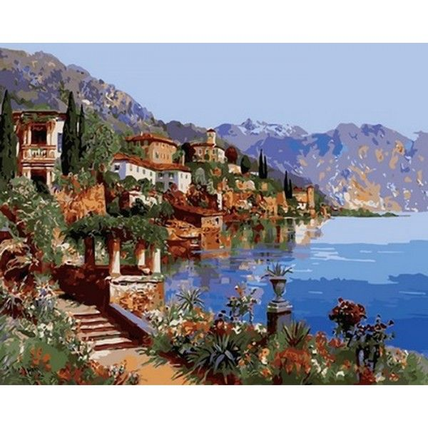 Картина по номерам Теплое море Италии