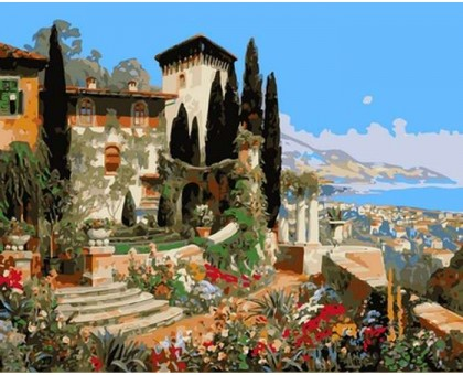 Картина по номерам Вилла на берегу океана