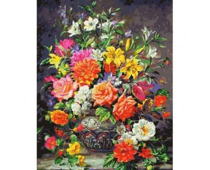 Раскраска по номерам Роскошный букет роз