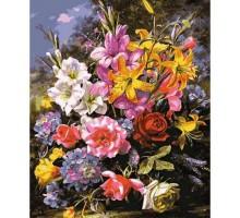 Картина по номерам Букет роз и лилий