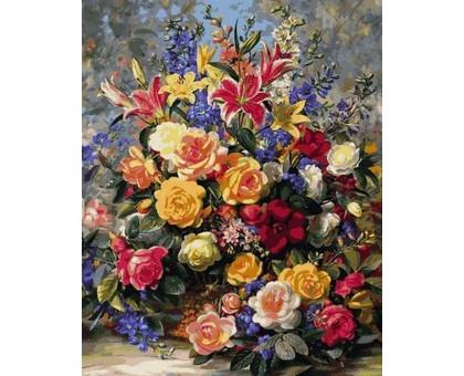 Картина по номерам Роскошный букет роз