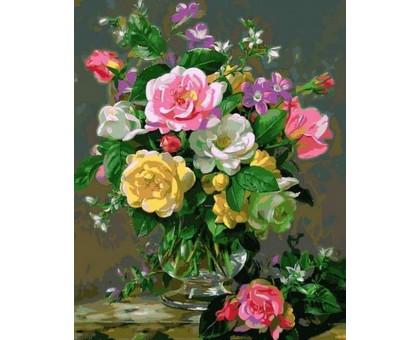 Картина по номерам Три оттенка роз