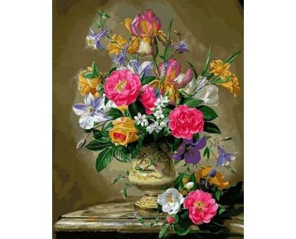 Картина по номерам Розы цвета фламинго