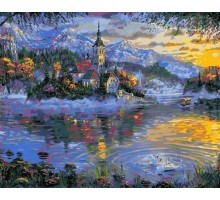 Картина по номерам Альпийское озеро