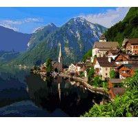 Картина по номерам Летняя Альпийская деревня
