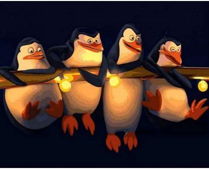Картина по номерам Пингвины Мадагаскар