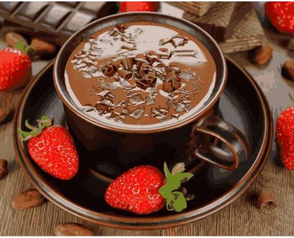 Картина по номерам Клубничный шоколад