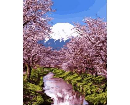 Картина по номерам Цветущая сакура 2