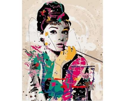 Картина по номерам Одри Хепберн в стиле поп-арт