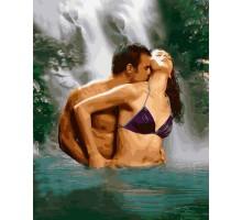 Картина по номерам Пара под водопадом
