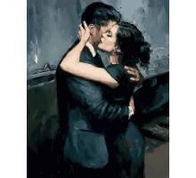 Картина по номерам Чувственные объятия пары