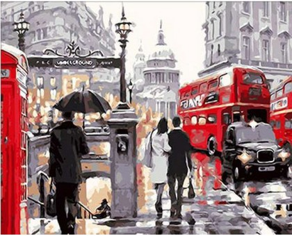 Картина по номерам Лондонский дождь
