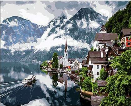 Раскраска по номерам Швейцарские Альпы