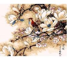 Картина по номерам Королек птичка певчая