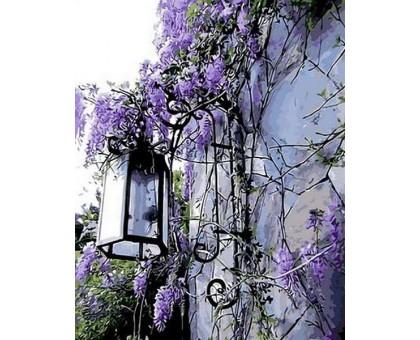 Картина по номерам Сиреневый фонарь