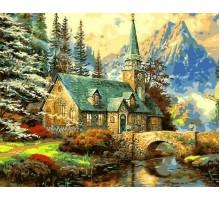 Картина по номерам Альпийский пейзаж. Часовня