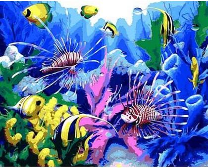 Картина по номерам Тропические рыбки