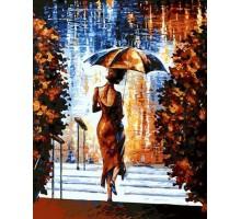 Картина по номерам Девушка под зонтом