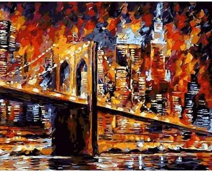 Картина по номерам Бруклинский мост худ Афремов, Леонид