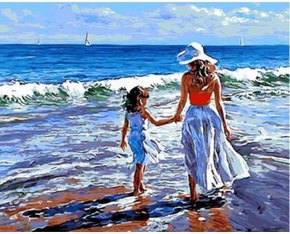 Картина по номерам Прогулка с мамой